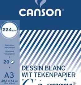 """Canson Canson Tekenblok """"C"""" à grain 224 g/m², ft 29,7 x 42 cm (A3)"""