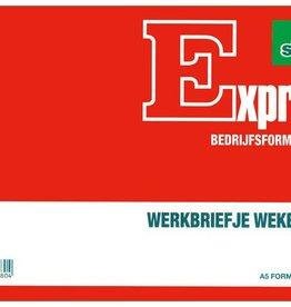 Sigel Sigel Expres werkbriefje A5 wekelijks 50 blad
