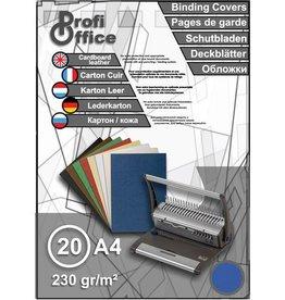 ProfiOffice ProfiOffice schutbladen A4 230gr. karton 20 stuks leer blauw
