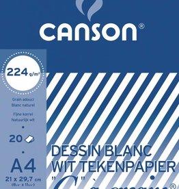 """Canson Canson Tekenblok """"C"""" à grain 224 g/m², ft 21 x 29,7 cm"""