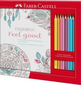 Faber Castell Faber-Castell kleurset  met 8 Grip kleurpotloden en 1 kleurboek feel good