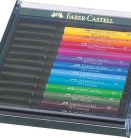 Faber Castell Faber Castell Pitt Artist Pen Brush set 12 stuks Basic