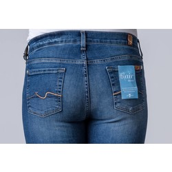 7 FOR ALL MANKIND MID RISE ROXANNE BAIR DENIM
