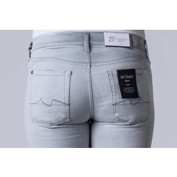 7 FOR ALL MANKIND THE SKINNY CROP LUXE LIGHTGREY