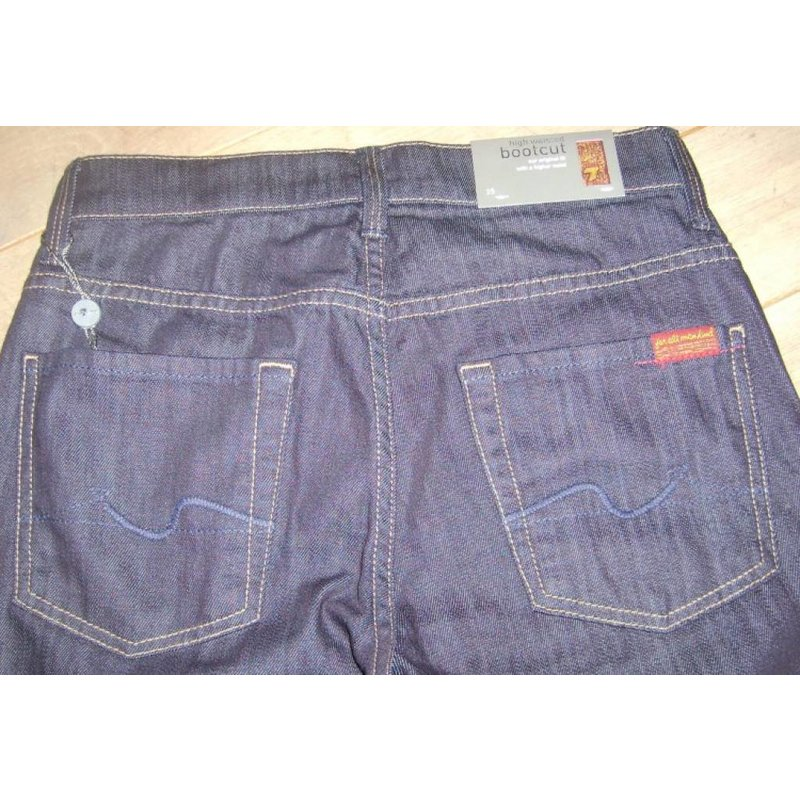 7 FOR ALL MANKIND BOOTCUT HIGH WAIST RINS