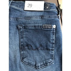 7 FOR ALL MANKIND THE SKINNY CROP DARKBLUE