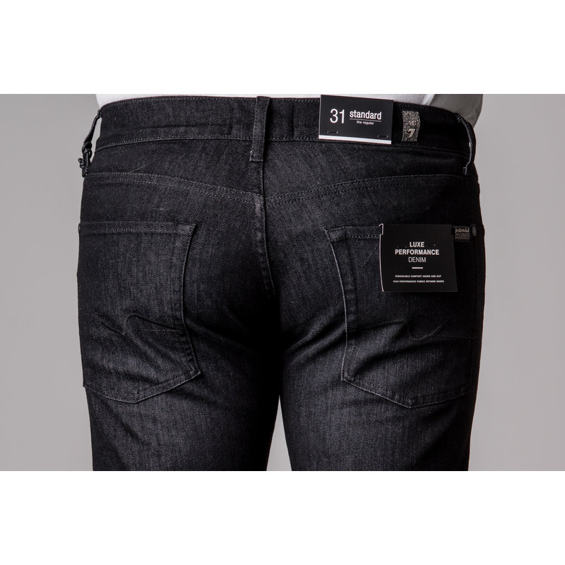 7 FOR ALL MANKIND STANDARD LUXEPERF WASHED BLACK