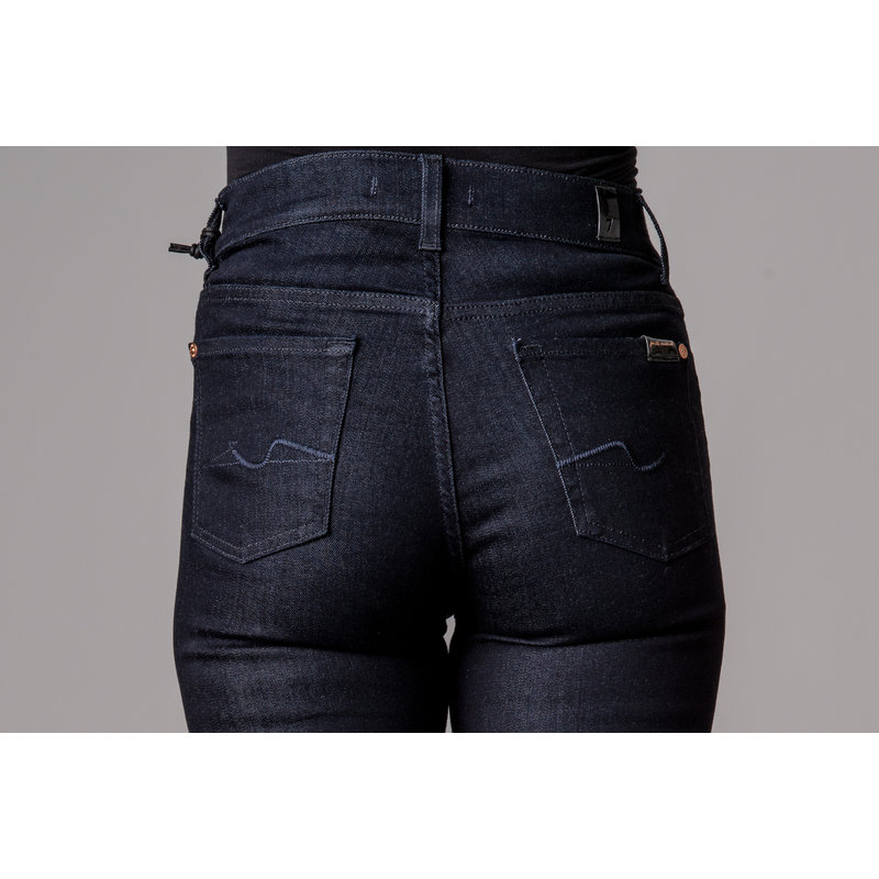 7 FOR ALL MANKIND STRAIGHT HIGH WAIST SLIM ILLUSION DARKNESS