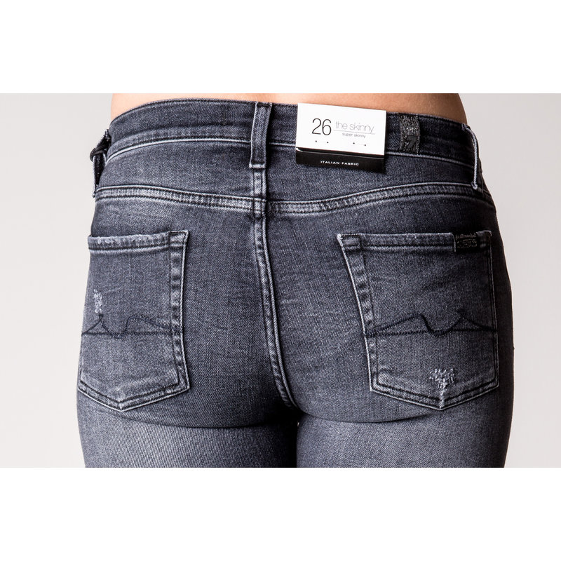 7 FOR ALL MANKIND THE SKINNY SLIMILLHONEST DISTRESSED