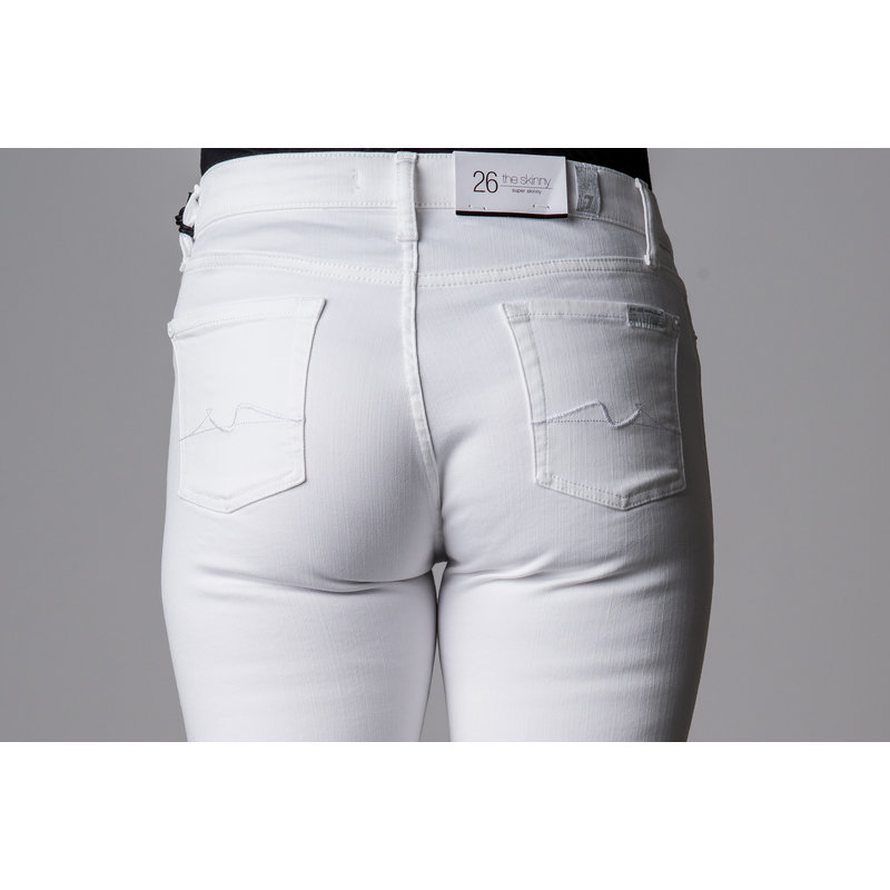 7 FOR ALL MANKIND THE SKINNY SLIMILLL PURE WHITE