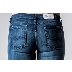 7 FOR ALL MANKIND ROXANNE SLIM ILLUSION - BLUE