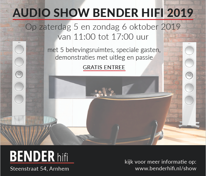 Audio Show Bender hifi 2019 op 5 & 6 oktober