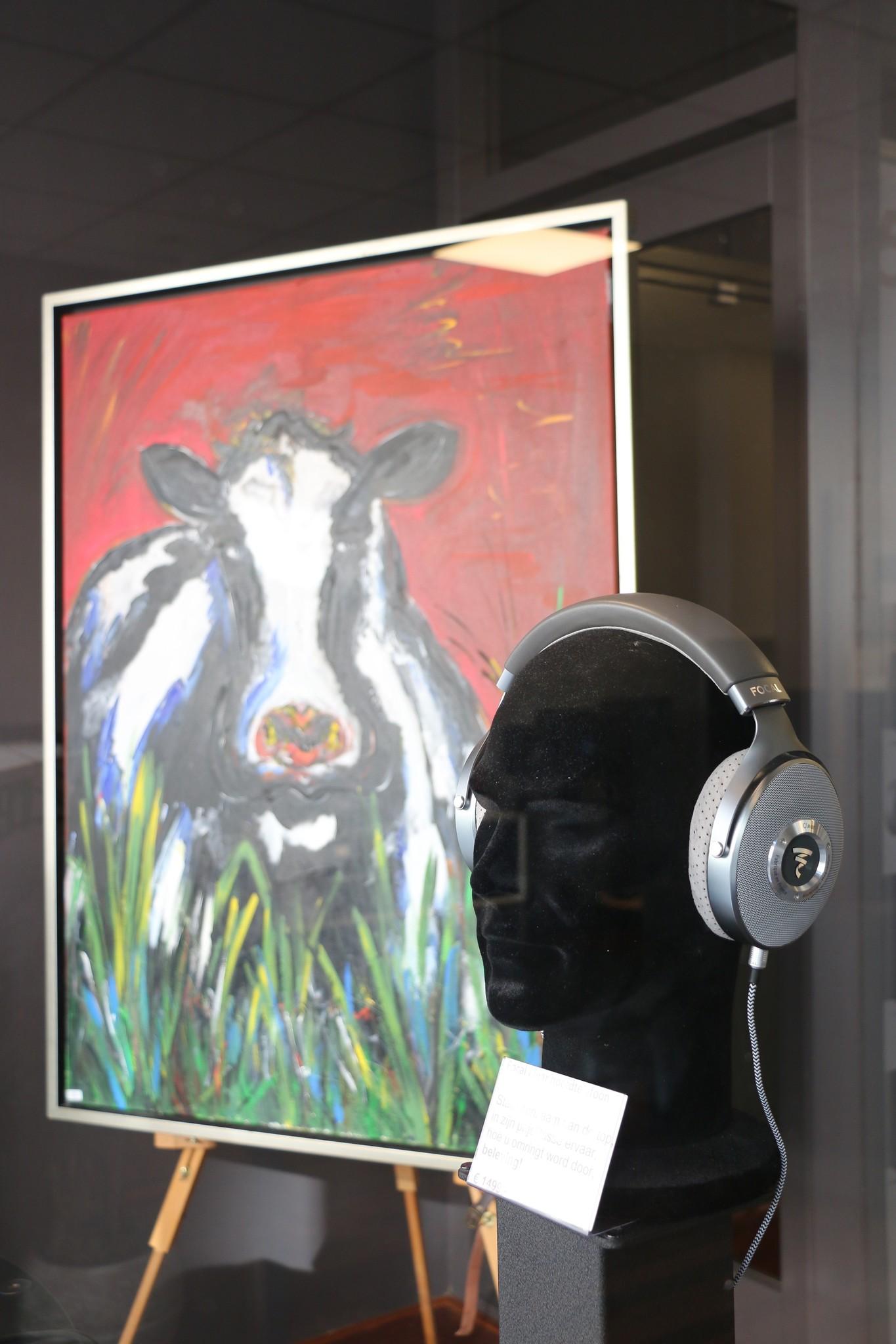 Koe in etalage