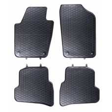 Geyer & Hosaja Gummi Fußmatten Geyer Hosaja für Volkswagen VW Polo V / Skoda Fabia III / Seat Ibiza IV
