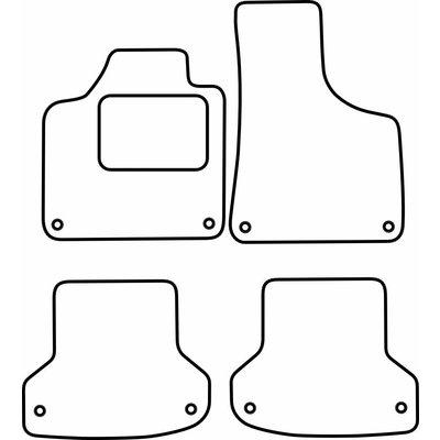 Vopi Velours Fußmatten für Audi A3 II