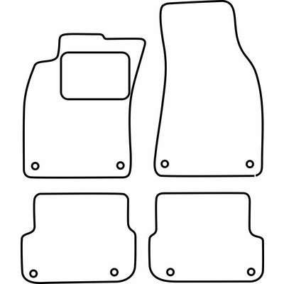 Vopi Velours Fußmatten für Audi A6 C6 FL