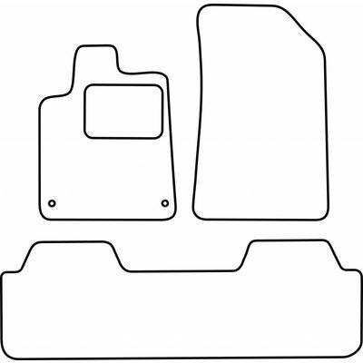 Vopi Velours Fußmatten für Citroen C5 I