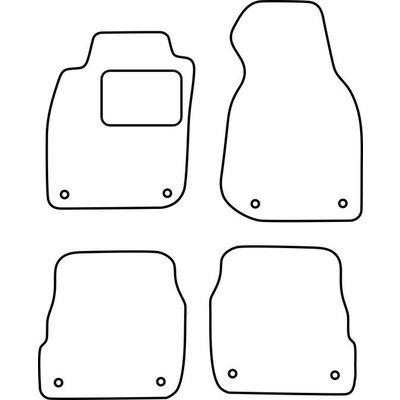 Vopi Velours Fußmatten für Audi A6 C5 FL