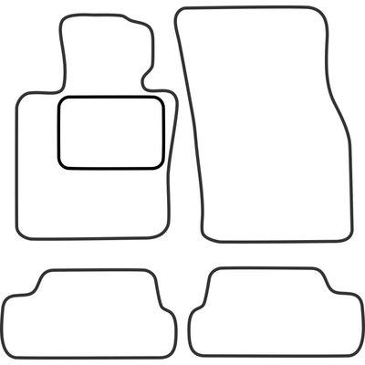 Vopi Velours Fußmatten für Mini One Cooper Cabrio