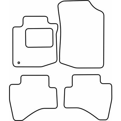 Vopi Velours Fußmatten für Citroen C1 / Peugeot 107 / Toyota Aygo