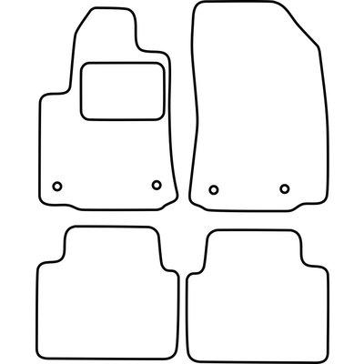Vopi Velours Fußmatten für Citroen C3 Aicross