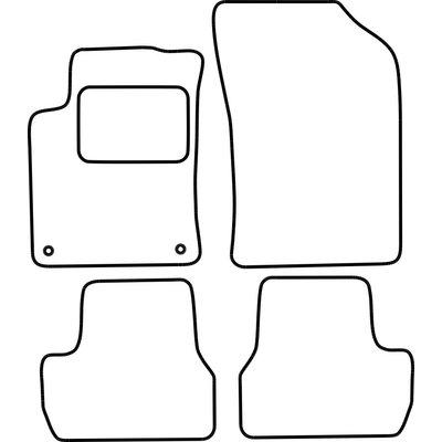 Vopi Velours Fußmatten für Citroen DS3