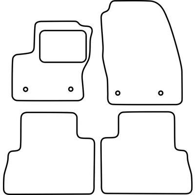 Vopi Velours Fußmatten für Ford C-Max FL