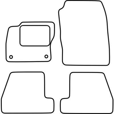 Vopi Velours Fußmatten für Ford Fiesta VI