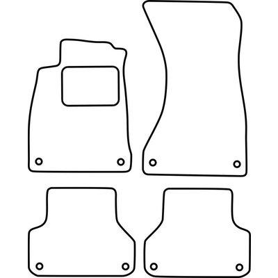 Vopi EINZELSTÜCK  Velours Fußmatten für Audi A4 B9 Avant