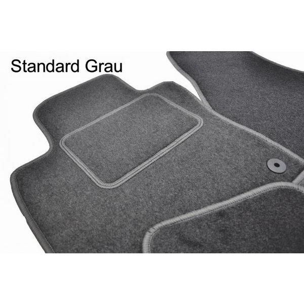 Velours Fußmatten dunkelgrau für AUDI A1 ab 2010