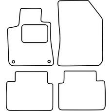 Vopi EINZELSTÜCK Velours Fußmatten für Peugeot 308 SW II