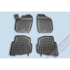 Rezaw Plast Gummi Fußmatten für Volkswagen Polo IV / Skoda Fabia / Seat Ibiza Cordoba