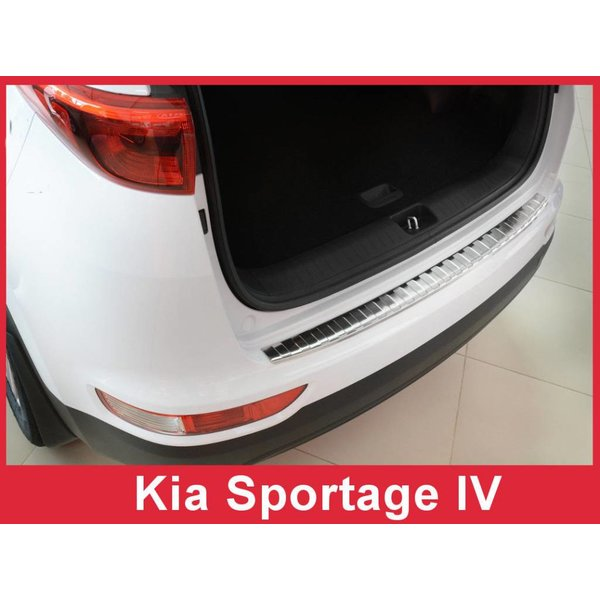 Ladekantenschutz Stoßstangenschutz für Kia Sportage 4 IV 2016-2018 Edelstahl