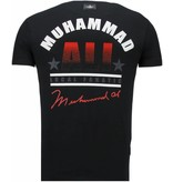 Local Fanatic Muhammad Ali - Rhinestone T-shirt - Zwart