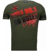 Local Fanatic Fighter! - Rhinestone T-shirt - Groen