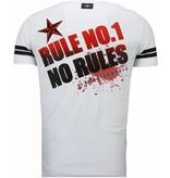 Local Fanatic Fighter! - Rhinestone T-shirt - Wit