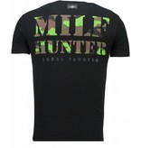 Local Fanatic Predator - Rhinestone T-shirt - Zwart