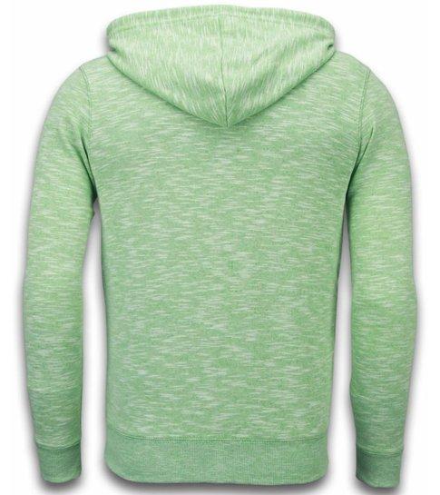 Enos Casual Vest - Melange Zen Fleece - Groen