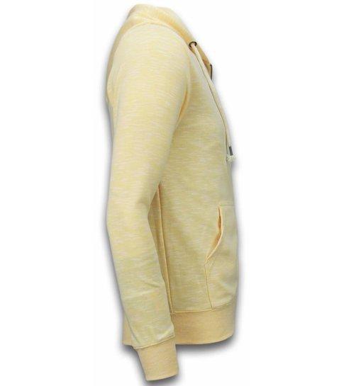 Enos Casual Vest - Melange Zen Fleece - Geel