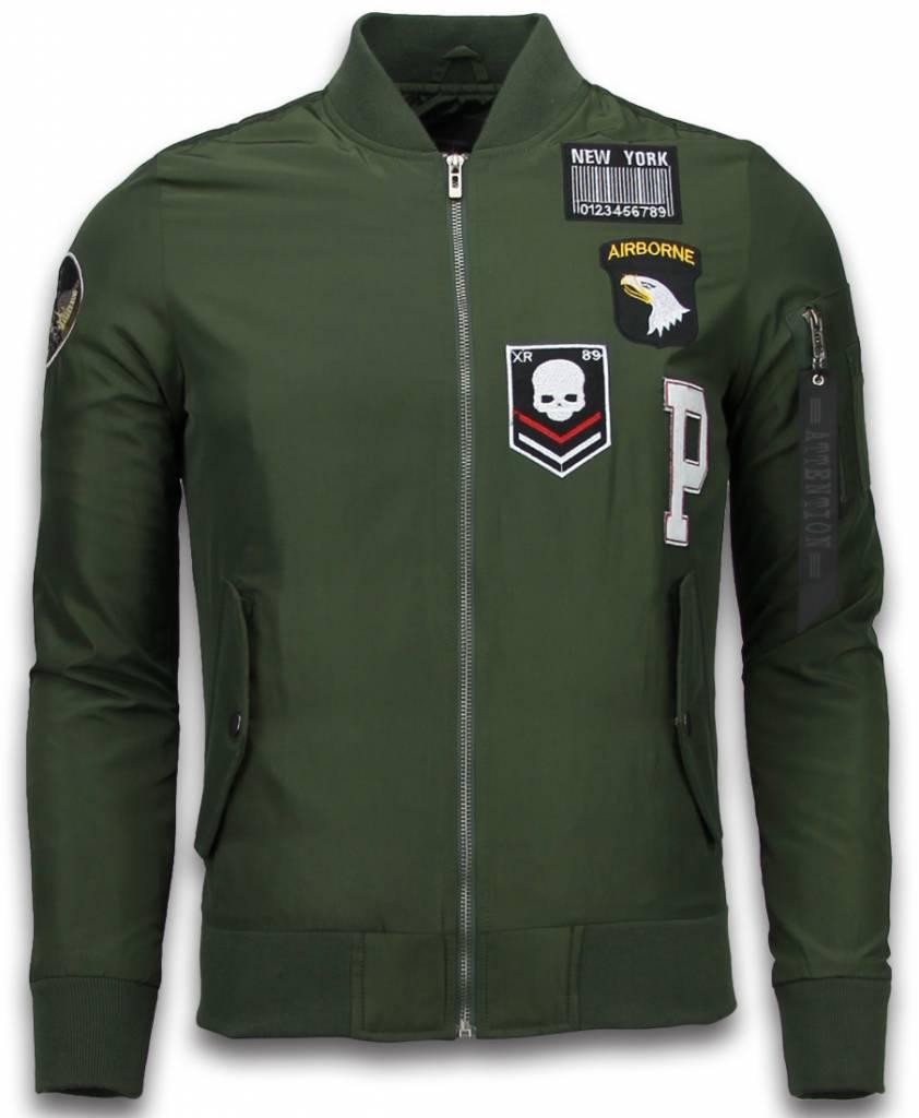 David Copper BomberJack Heren Exclusive Airborne Patches Groen