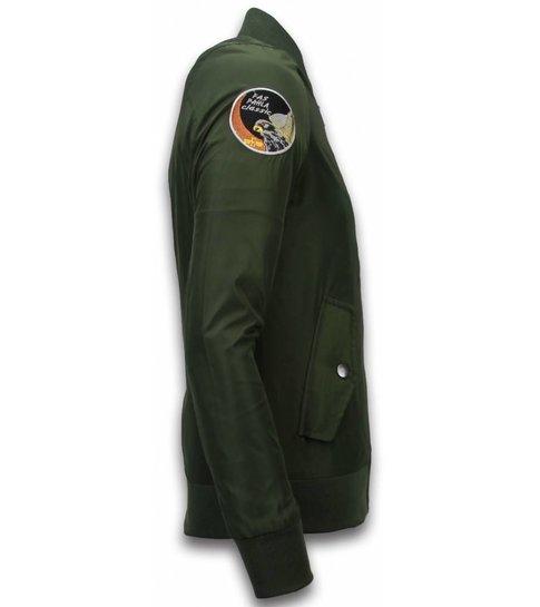 David Copper BomberJack Heren - Exclusive Airborne Patches - Groen