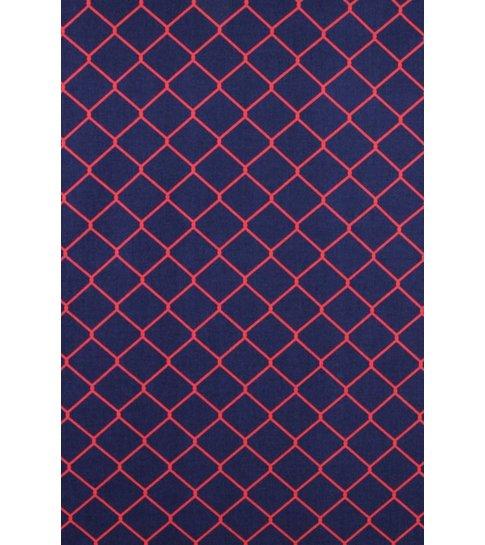 TONY BACKER Italiaanse Overhemden - Slim Fit Overhemd - Blouse Wide Wire Fence - Blauw