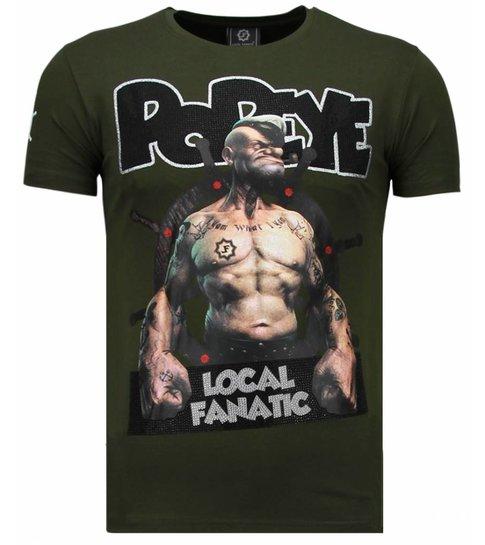 Local Fanatic The Sailor Man - Rhinestone T-shirt - Groen