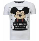 Local Fanatic State Prison - Rhinestone T-shirt - Wit