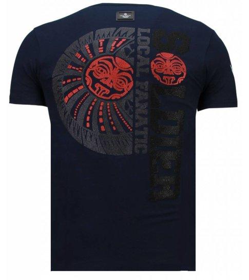 Local Fanatic The Rock - Rhinestone T-shirt - Navy