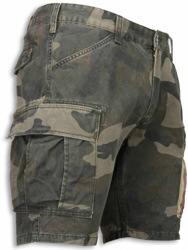 Korte Broek Legerprint Dames.Bread Buttons Korte Broeken Heren Slim Fit Camouflage Shorts