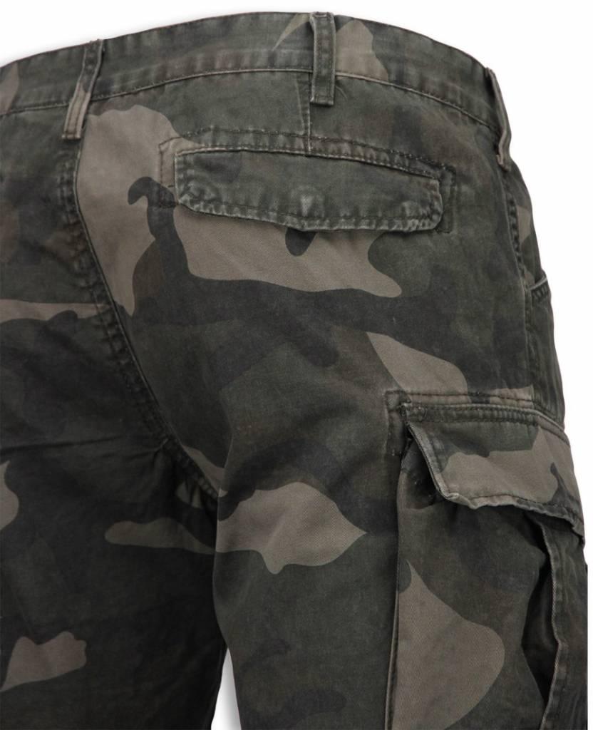 Korte Broek Legerprint Heren.Bread Buttons Korte Broeken Heren Slim Fit Camouflage Shorts