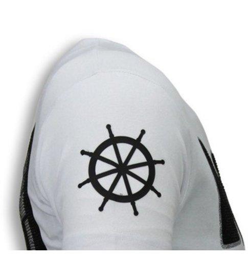 Local Fanatic The Sailor Man - Rhinestone T-shirt - Wit