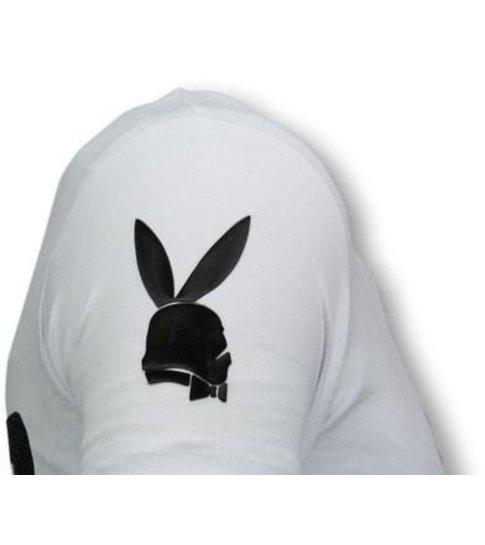 Local Fanatic Stormbitch - Rhinestone T-shirt - Wit