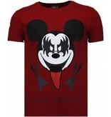 Local Fanatic Kiss My Mickey - Rhinestone T-shirt - Bordeaux